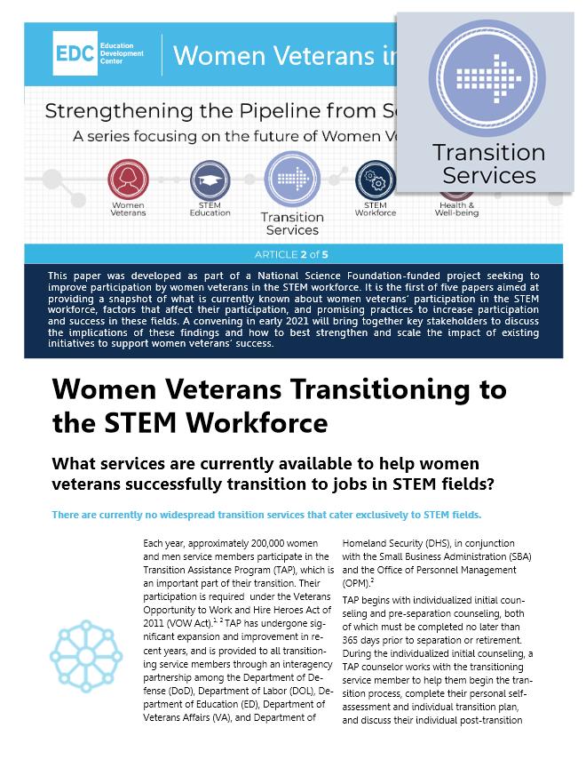 Women Veterans Transitioning to the STEM Workforce