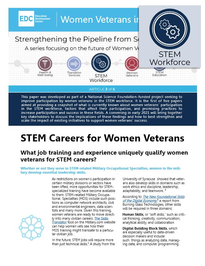 STEM Careers for Women Veterans