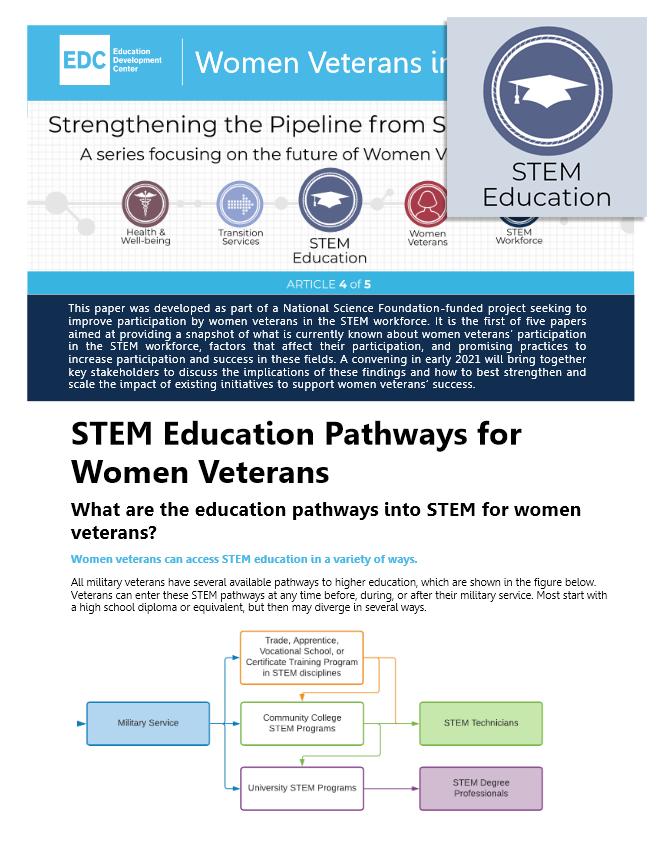 STEM Education Pathways for Women Veterans